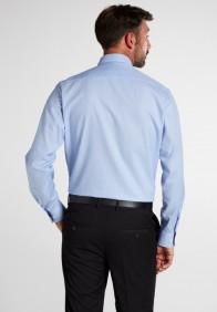 eterna vasalásmentes karcsúsított férfi ing világoskék kockás - hát