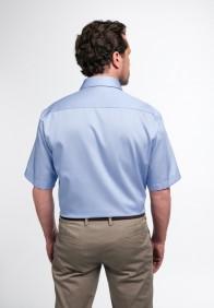 eterna vasalásmentes férfi ing rövid ujjú kék - hát