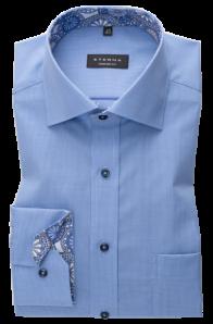 eterna vasalásmentes férfi ing kék apró mintás