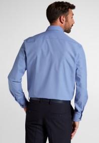 eterna vasalásmentes férfi ing kék apró mintás - hát