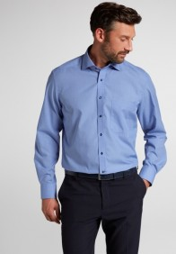 eterna vasalásmentes férfi ing kék apró mintás - modell