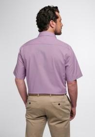 eterna vasalásmentes férfi ing rövid ujjú violalila-fehér apró mintás - hát