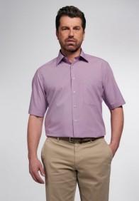 eterna vasalásmentes férfi ing rövid ujjú violalila-fehér apró mintás - modell