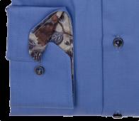 eterna vasalásmentes karcsúsított férfi ing kék - mandzsetta