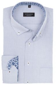 eterna vasalásmentes férfi ing kék-szürke kockás