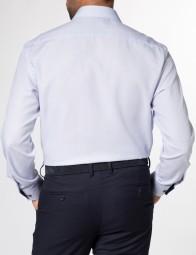 eterna vasalásmentes férfi ing kék anyagában mintás hosszított ujjú - modell hát