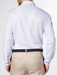 eterna vasalásmentes karcsúsított férfi ing kék anyagában mintás hosszított ujjú - modell hát