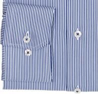 eterna vasalásmentes karcsúsított férfi ing kék-fehér - mandzsetta