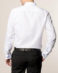 eterna vasalásmentes duplán karcsúsított férfi ing fehér -hát