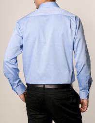 eterna vasalásmentes férfi ing kék - modell hát
