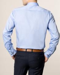 eterna vasalásmentes duplán karcsúsított férfi ing kék - modell hát
