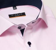 eterna vasalásmentes duplán karcsúsított férfi ing rózsaszín - gallér