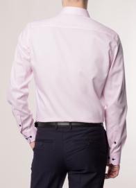eterna vasalásmentes duplán karcsúsított férfi ing rózsaszín - modell hát