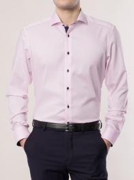 eterna vasalásmentes duplán karcsúsított férfi ing rózsaszín - modell