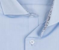 eterna vasalásmentes duplán karcsúsított férfi ing világoskék - gallér