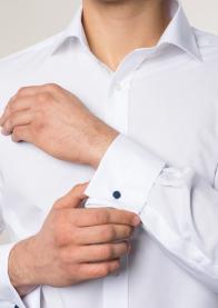 eterna vasalásmentes karcsúsított férfi ing fehér - modell közeli