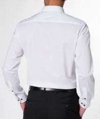 eterna vasalásmentes duplán karcsúsított férfi ing fehér - hát