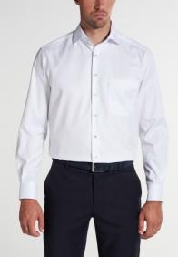 eterna vasalásmentes férfi ing fehér (kék mintás gallér belső) - modell