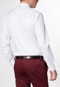 eterna vasalásmentes duplán karcsúsított férfi ing fehér (cover shirt) - modell hát