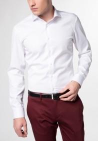 eterna vasalásmentes duplán karcsúsított férfi ing fehér (cover shirt) - modell