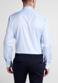 eterna vasalásmentes duplán karcsúsított férfi ing világoskék (cover shirt) - hát