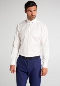 eterna vasalásmentes karcsúsított férfi ing bézs (cover shirt) - modell