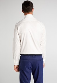 eterna vasalásmentes karcsúsított férfi ing bézs (cover shirt) - hát