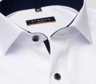 eterna vasalásmentes duplán karcsúsított férfi ing fehér (cover shirt) - gallér