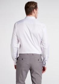 eterna vasalásmentes duplán karcsúsított férfi ing fehér (cover shirt) - hát