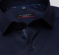 eterna vasalásmentes karcsúsított férfi ing sötétkék (cover shirt) - gallér