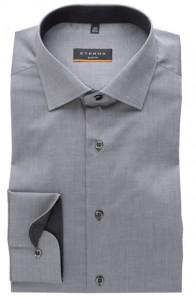 eterna vasalásmentes duplán karcsúsított férfi ing szürke