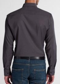 eterna vasalásmentes duplán karcsúsított férfi ing sötétszürke - hát