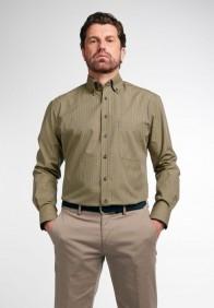 eterna vasalásmentes férfi ing mustár-sötétkék kockás - modell