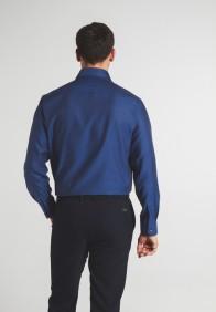 eterna vasalásmentes férfi ing azúrkék - hát