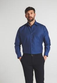 eterna vasalásmentes férfi ing azúrkék - modell