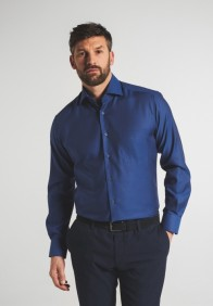 eterna vasalásmentes karcsúsított férfi ing azúrkék - modell