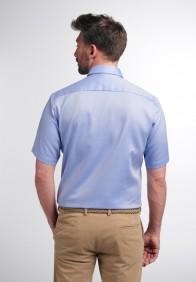 eterna vasalásmentes karcsúsított férfi ing rövid ujjú kék - hát