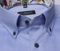 eterna vasalásmentes férfi ing rövid ujjú kék - gallér