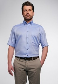 eterna vasalásmentes férfi ing rövid ujjú kék - modell