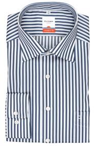 OLYMP modern fit kék csíkos ing
