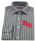 eterna Slim fekete csíkos ing